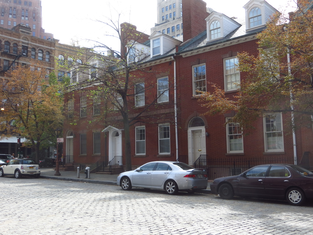 Row of old Federalist homes (b. 1796 - 1828)