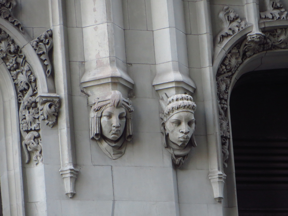 Faces on Woolworth Building