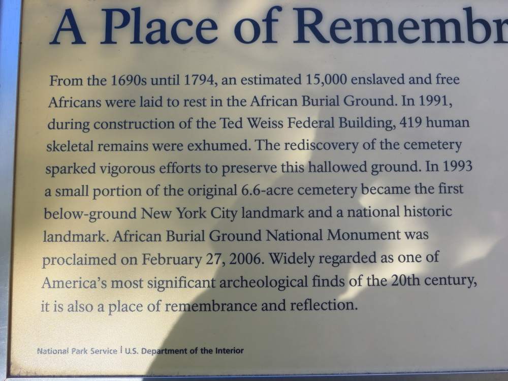 African Burial Ground History