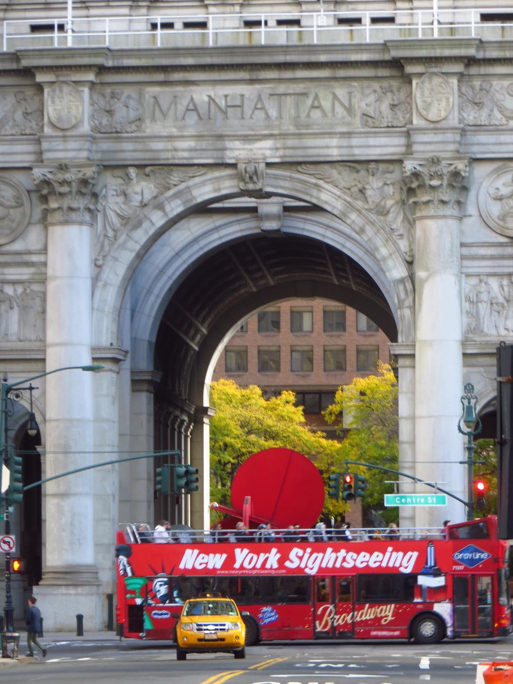 Manhattan Municipal Building archway