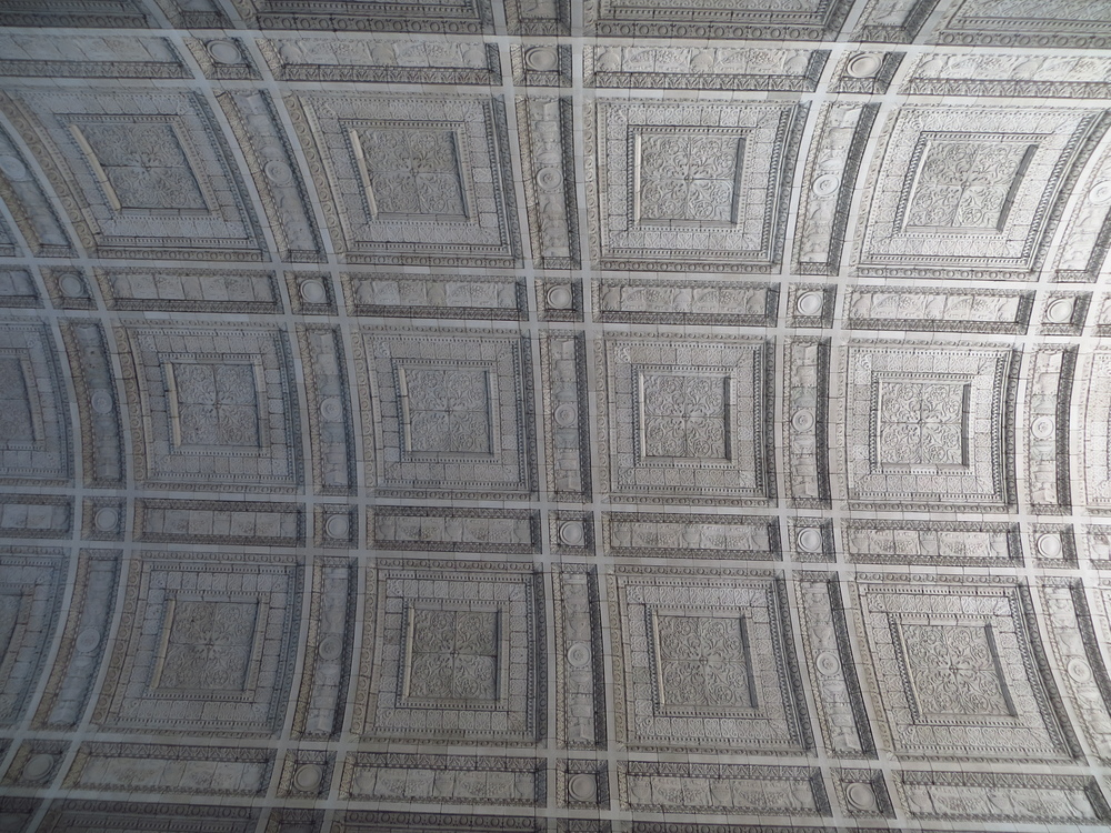 Manhattan Municipal Building breezeway ceiling