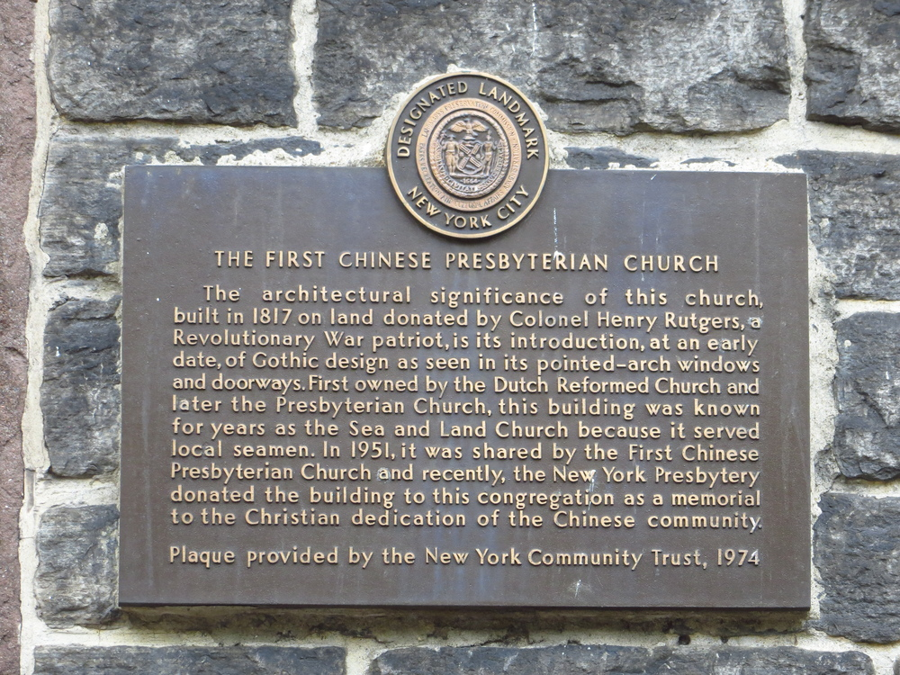First Chinese Presbyterian Church history