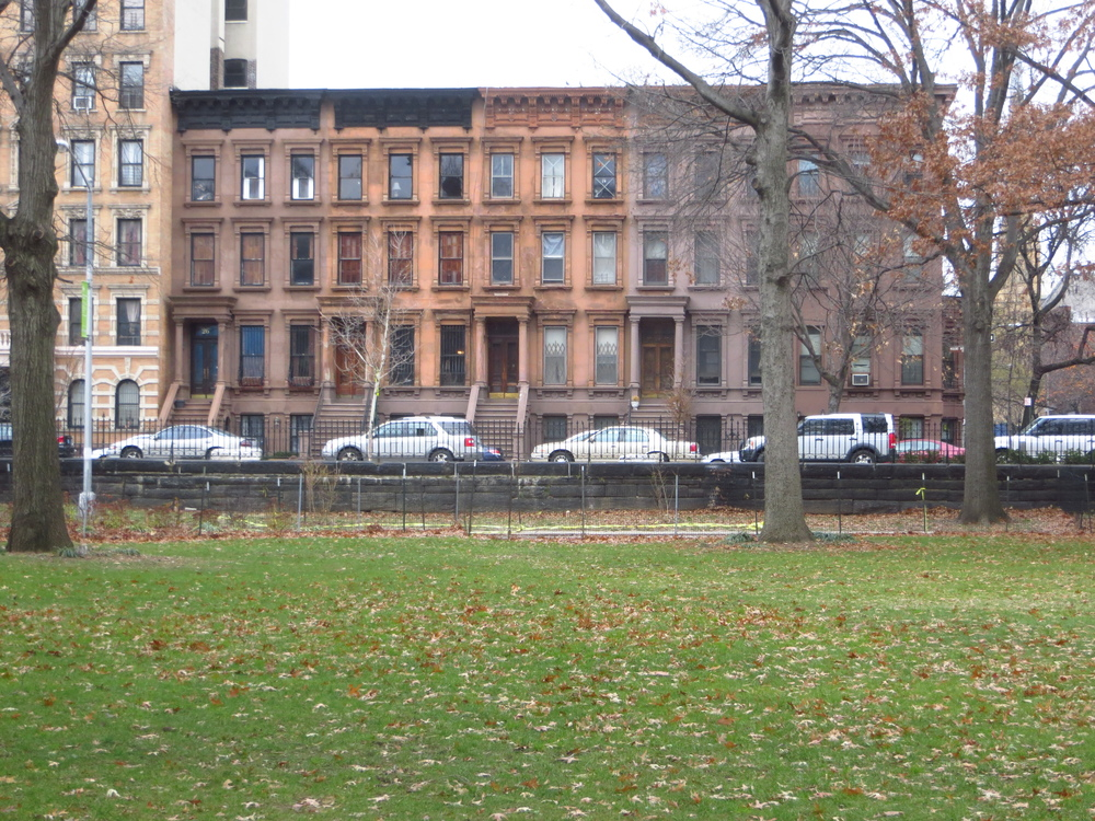 Brownstones from Marcus Garvey Park