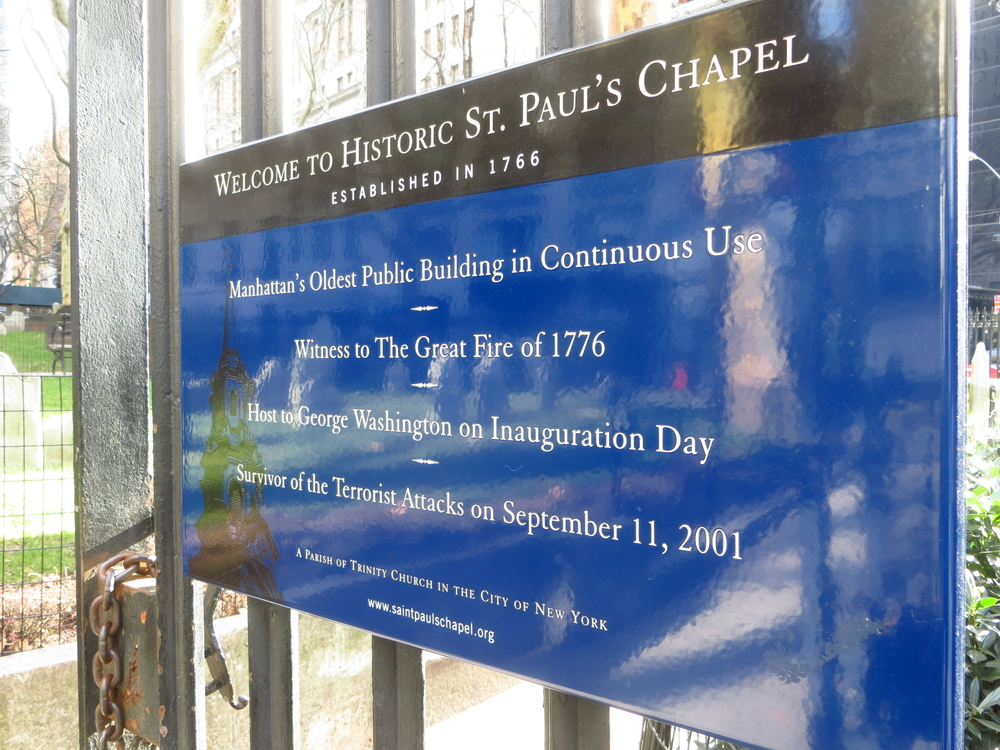 St. Paul's Chapel history