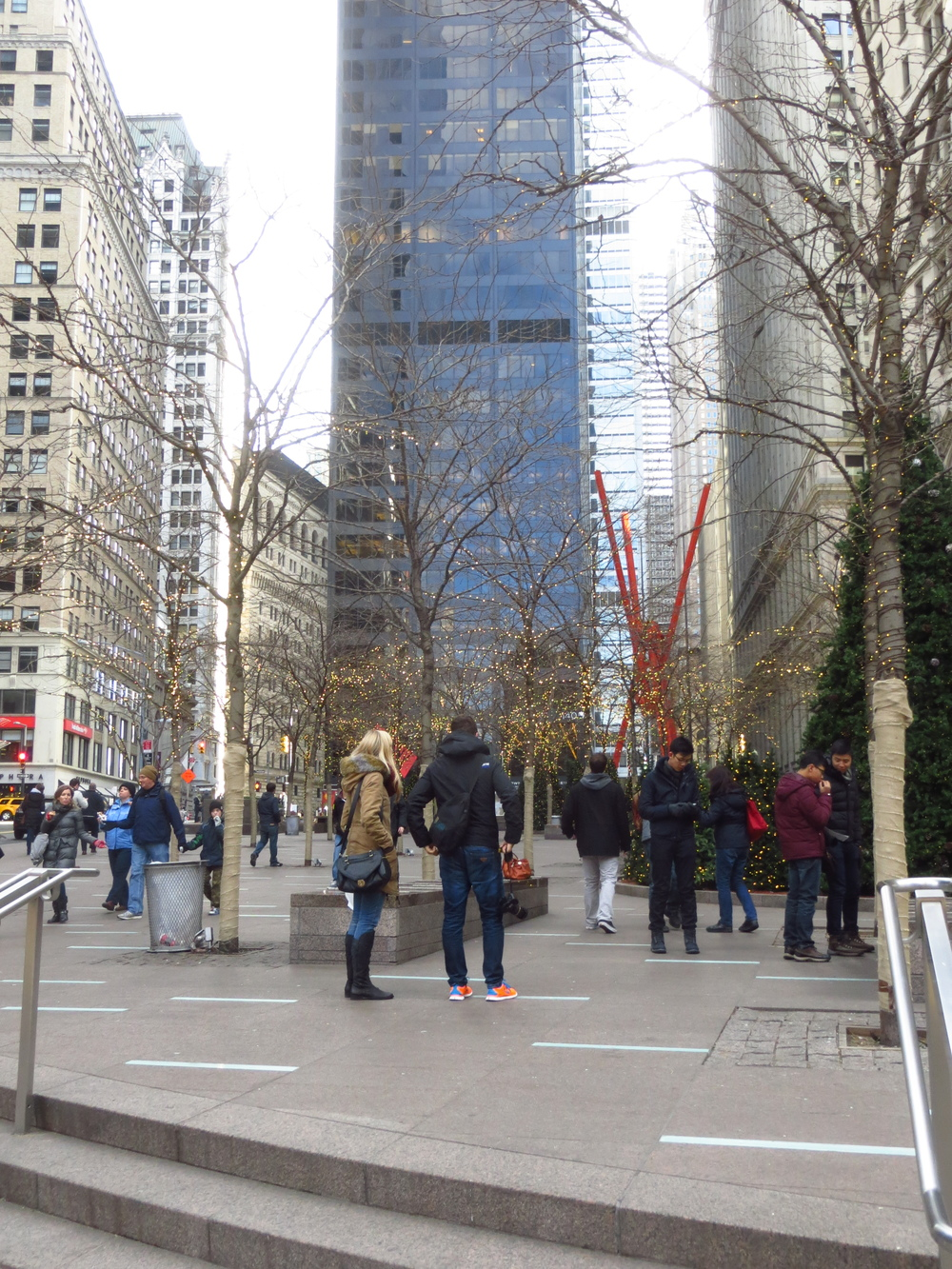 Zuccotti Park (home of the Occupy Wall Street protest)