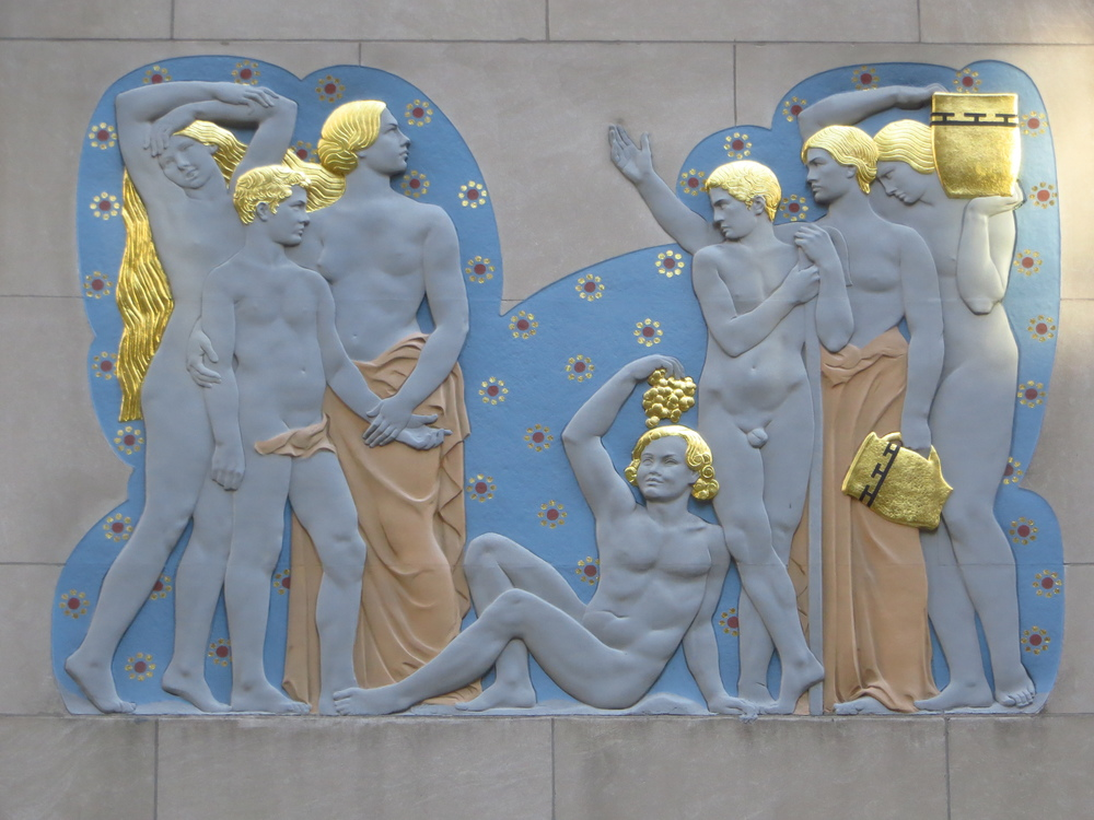 Rockefeller Center bas relief