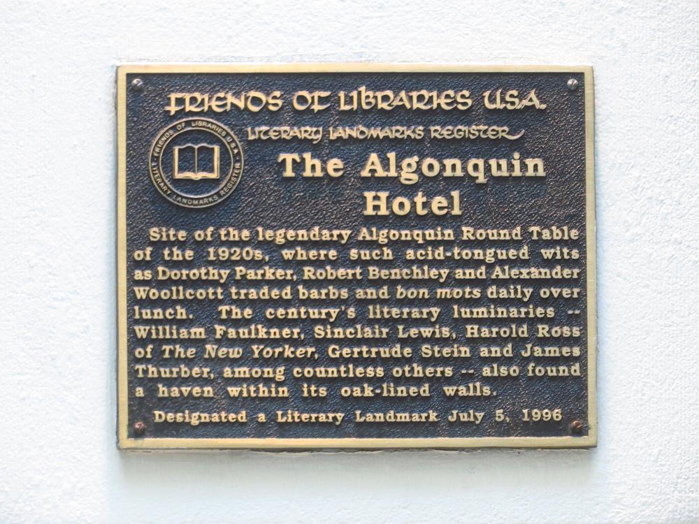 Algonquin Hotel history pt. II