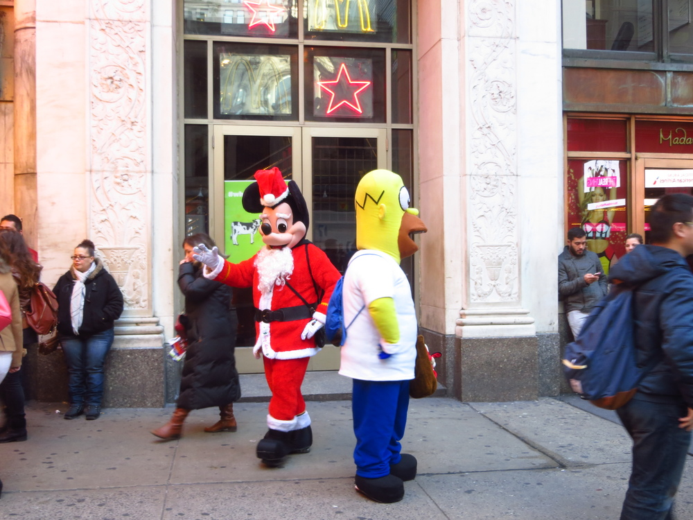 Poorly made, unlicensed costumed characters - WOO TIMES SQUARE!