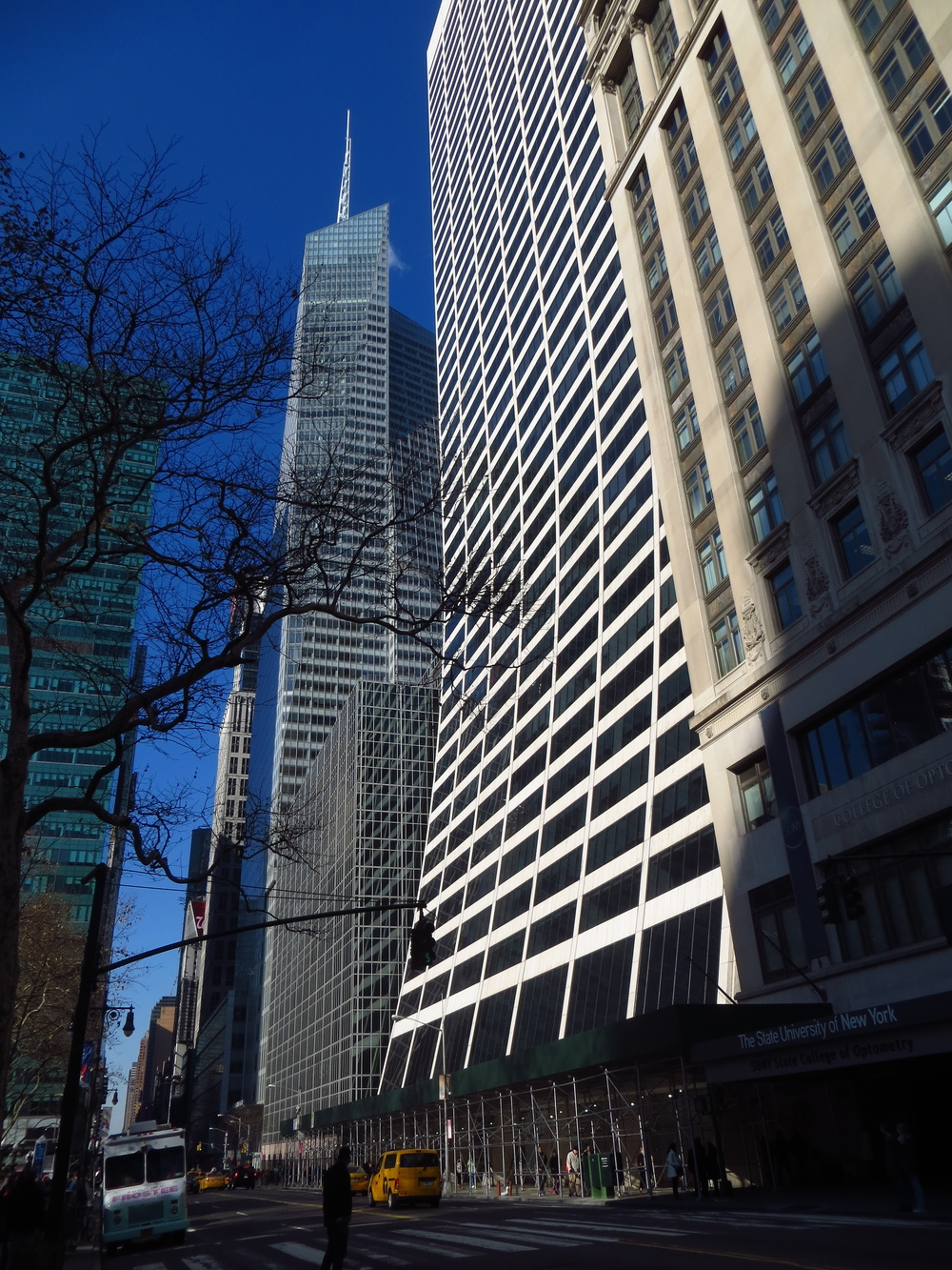 There's a building on 57th St. nearly identical to one with the curved base