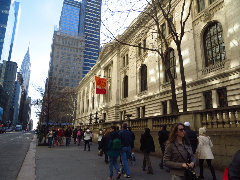 New York Public Library and Chrysler Building