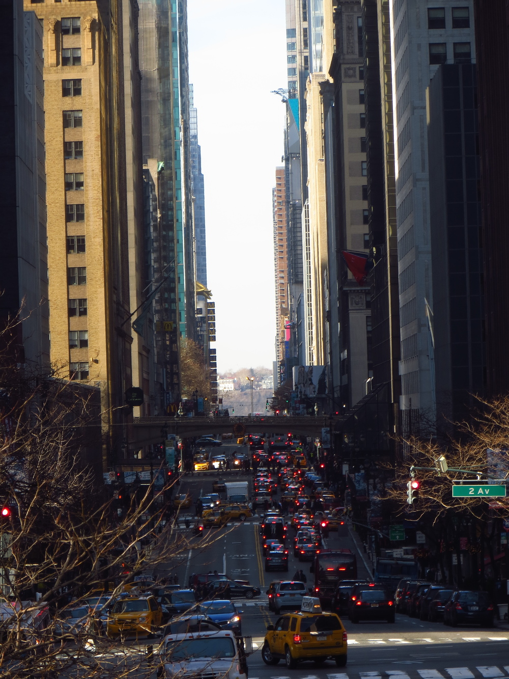 View down 42nd St. (zoomed)