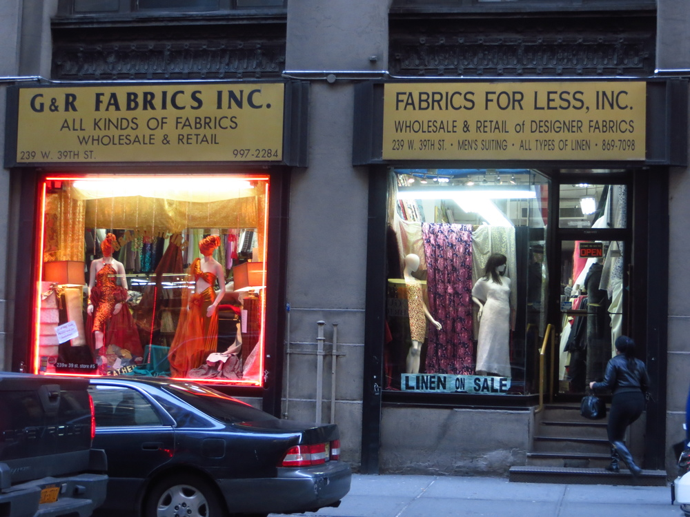 Garment District fabric stores