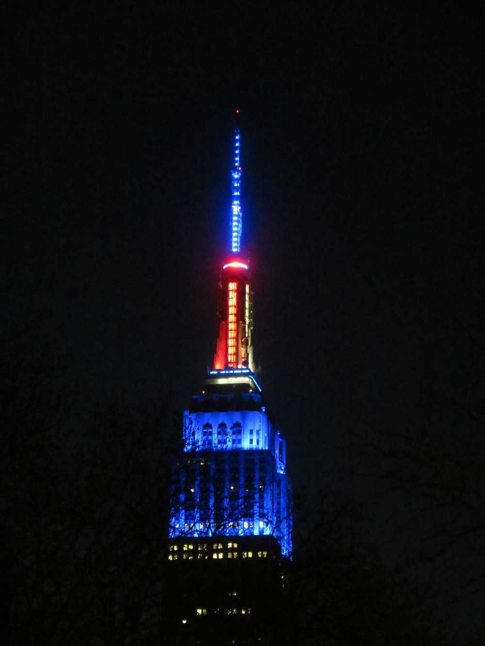 Empire State Building illuminated
