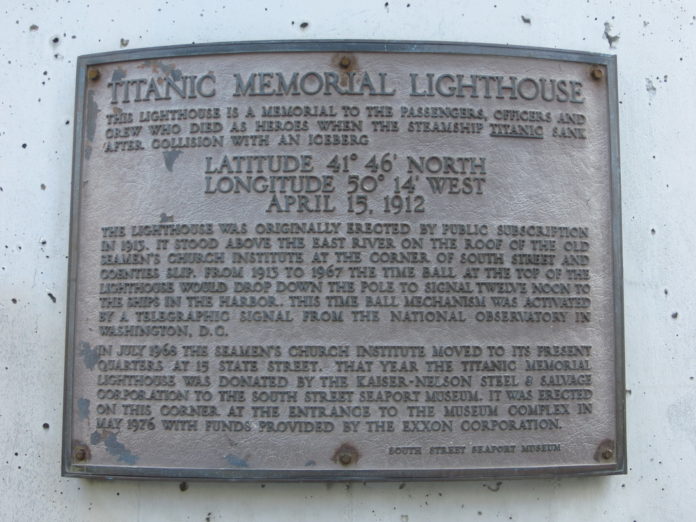Titanic Memorial Lighthouse History
