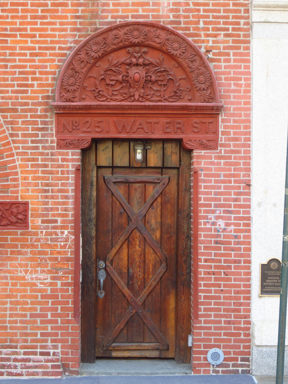 Cool old door on cool old building