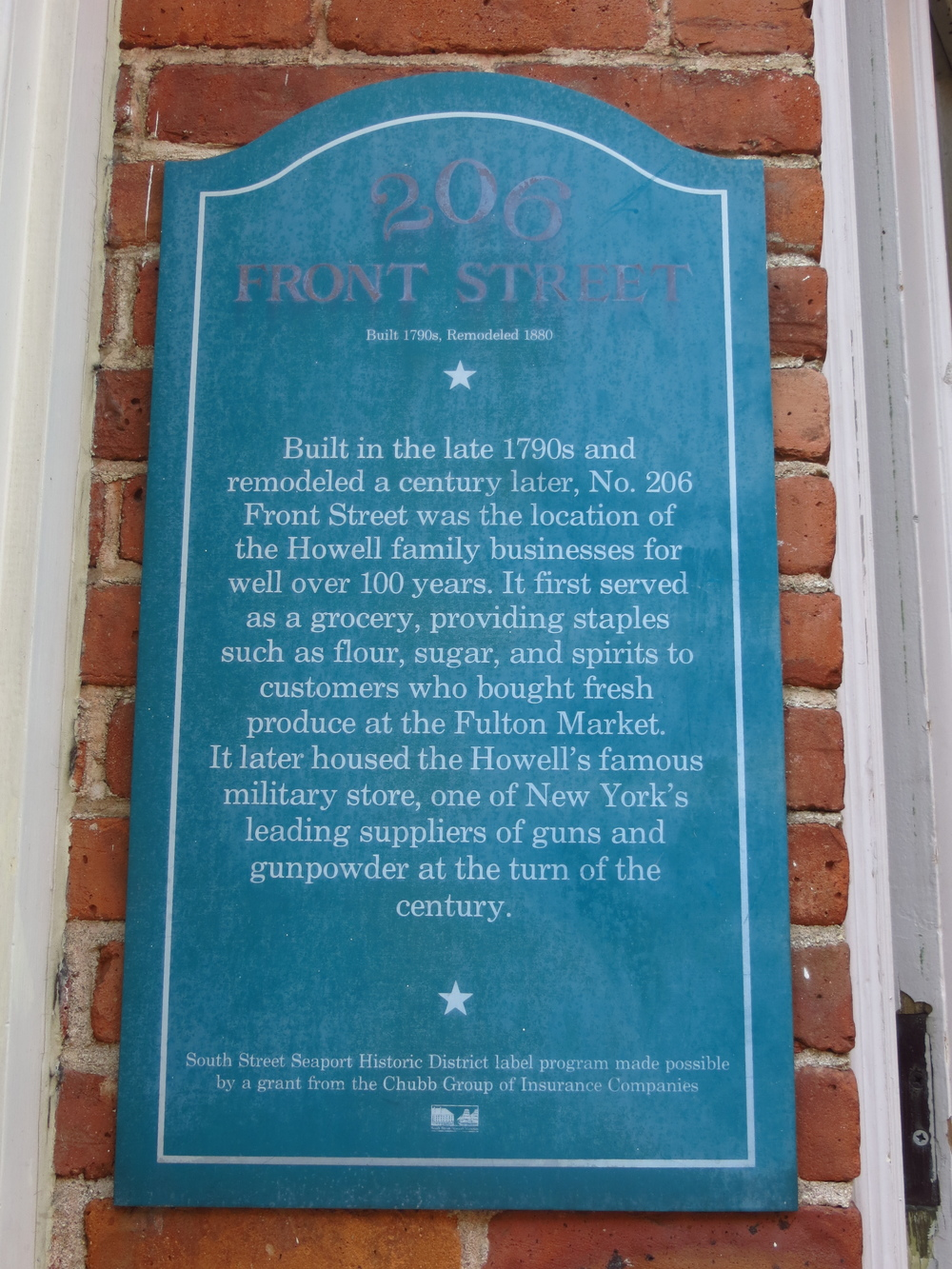 206 Front St. History