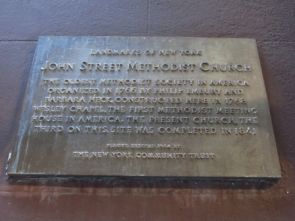 John St. Methodist Church history