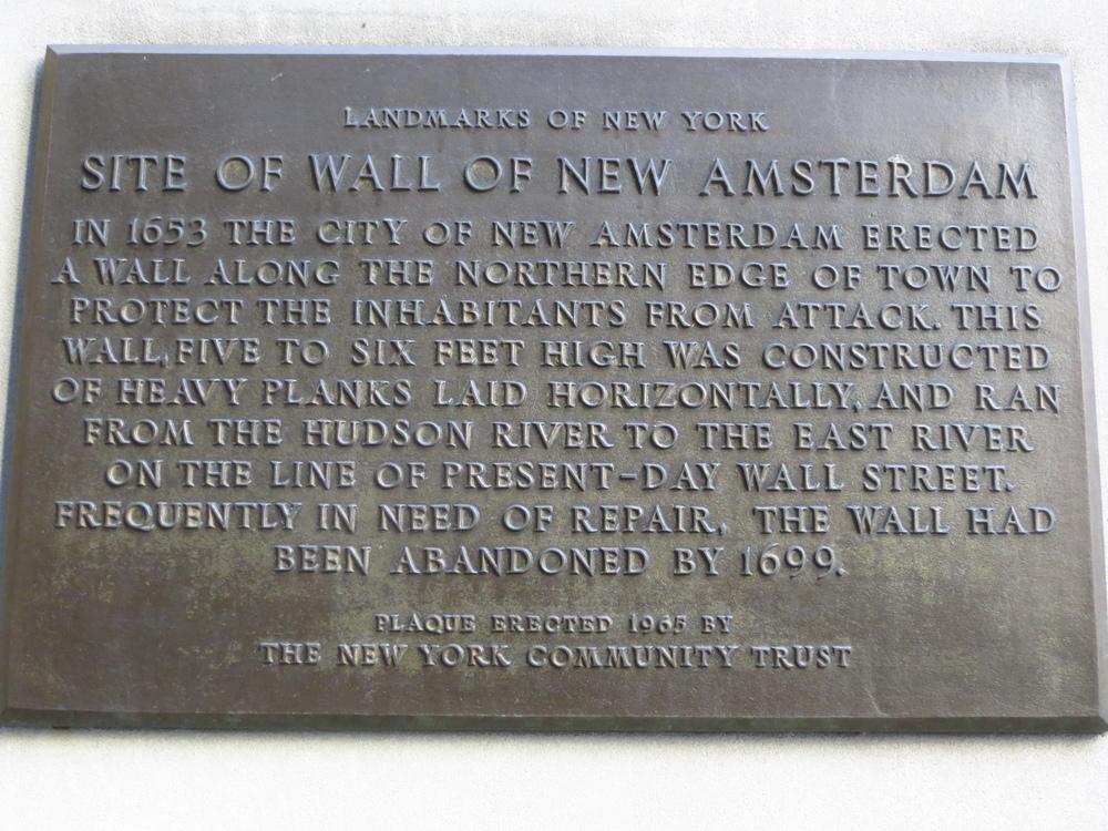 Wall St. history
