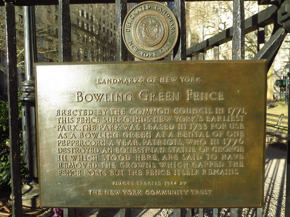 Bowling Green Fence History