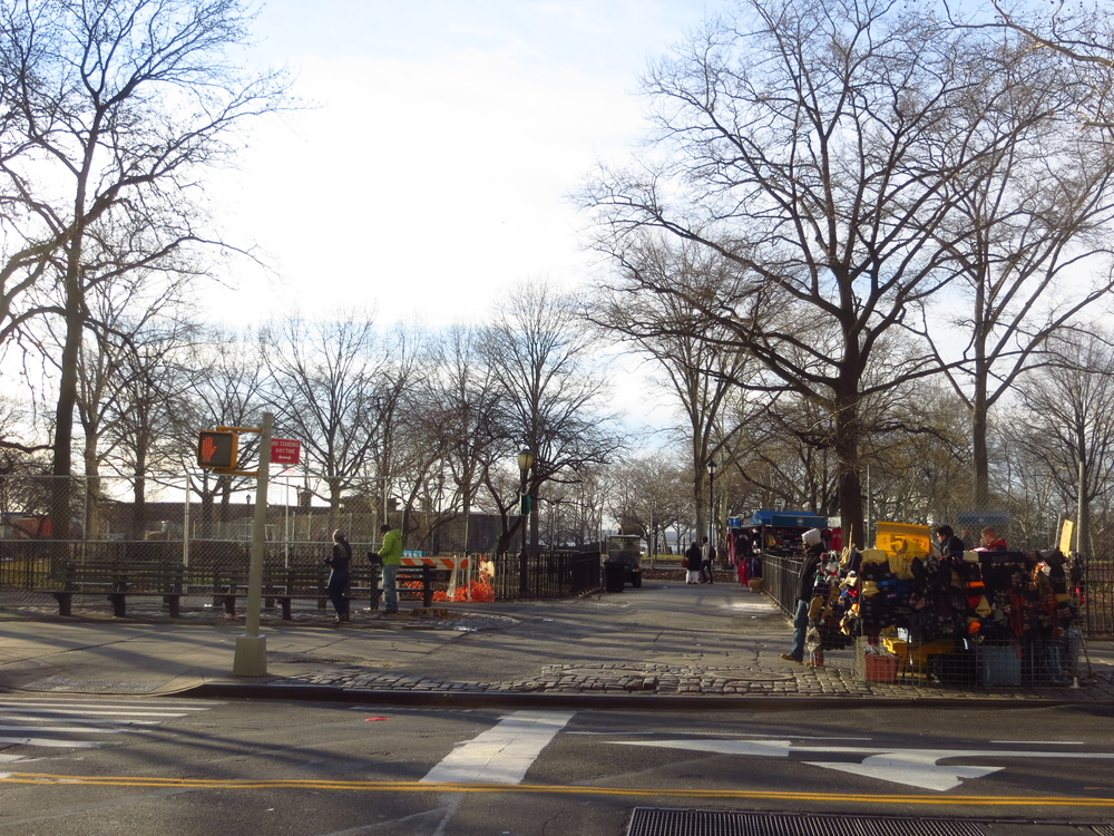 View into Battery Park