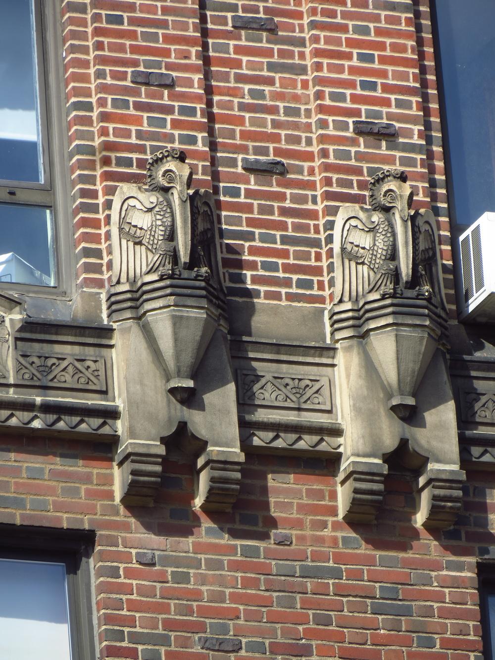Pelican statues