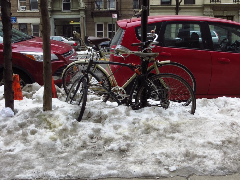 Stuck bikes