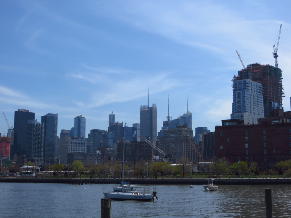 View of Midtown from pier