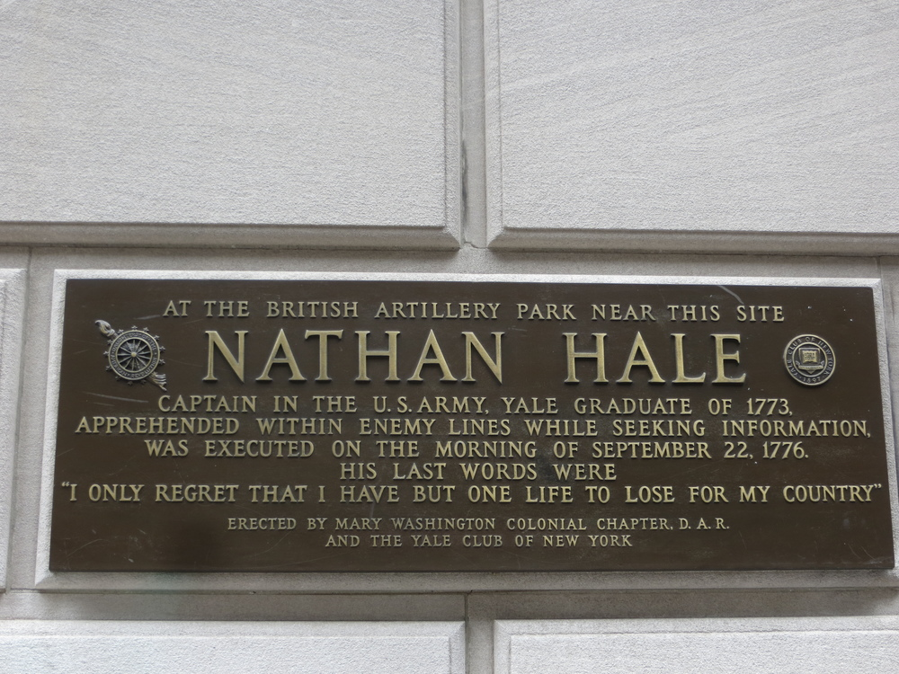 Another Nathan Hale historical marker