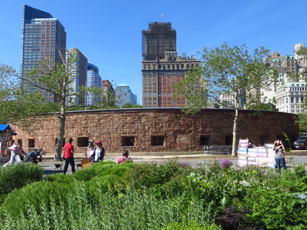 Castle Clinton (the battery of Battery Park)