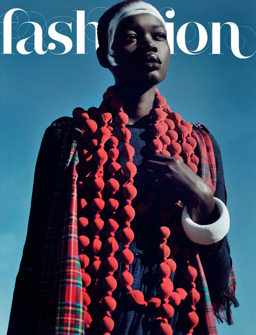 Aluad Deng Anei by Ross Garrett for V Magazine Online