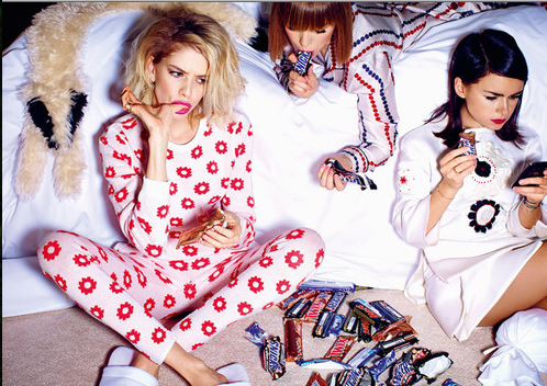 Miroslava Duma, Elena Perminova, and Vika Gasinskaya for Vogue Russia