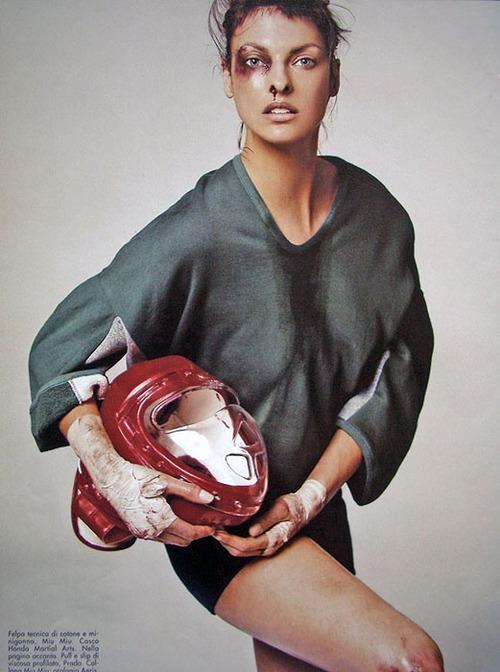 Linda Evangelista by Steven Meisel 2003