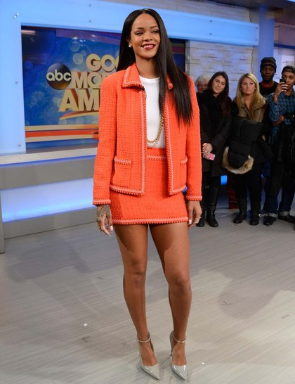 Wearing Chanel to Good Morning America, January 2014