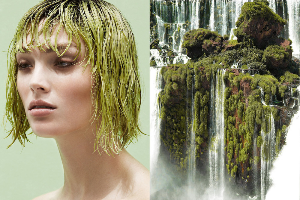 """My Little Pony Goes Grunge"" beauty editorial for BON MAGAZINE by Jakob Azelman; Waterfall Island, Alto Parana, Paraguay."