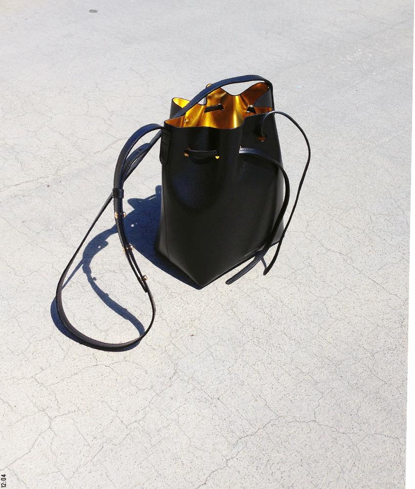 Mansur Gavriel Mini Bucket Bag photographed by Olga Montserrat for 12:04
