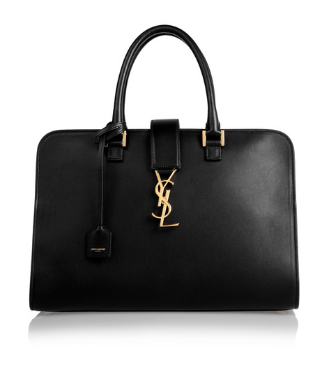 SAINT LAURENT MONOGRAMME CABAS LEATHER TOTE. $ 2,890