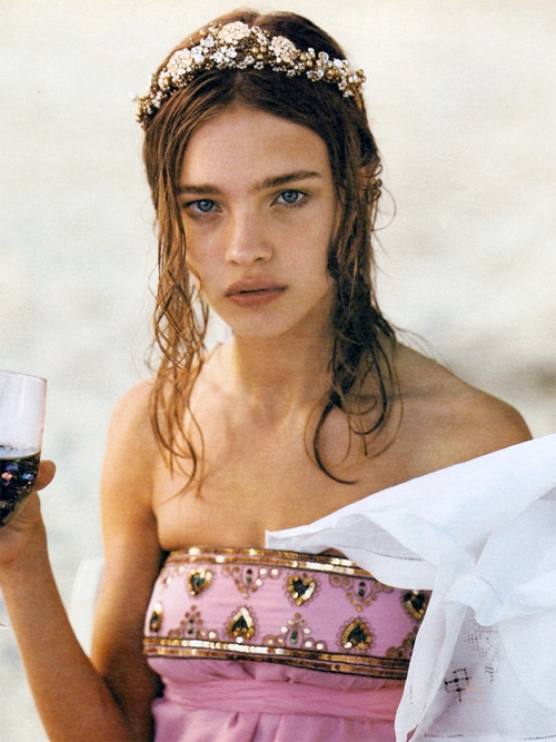 NATALIA VODIANOVA BY BRUCE WEBER FOR  W  JULY 2002