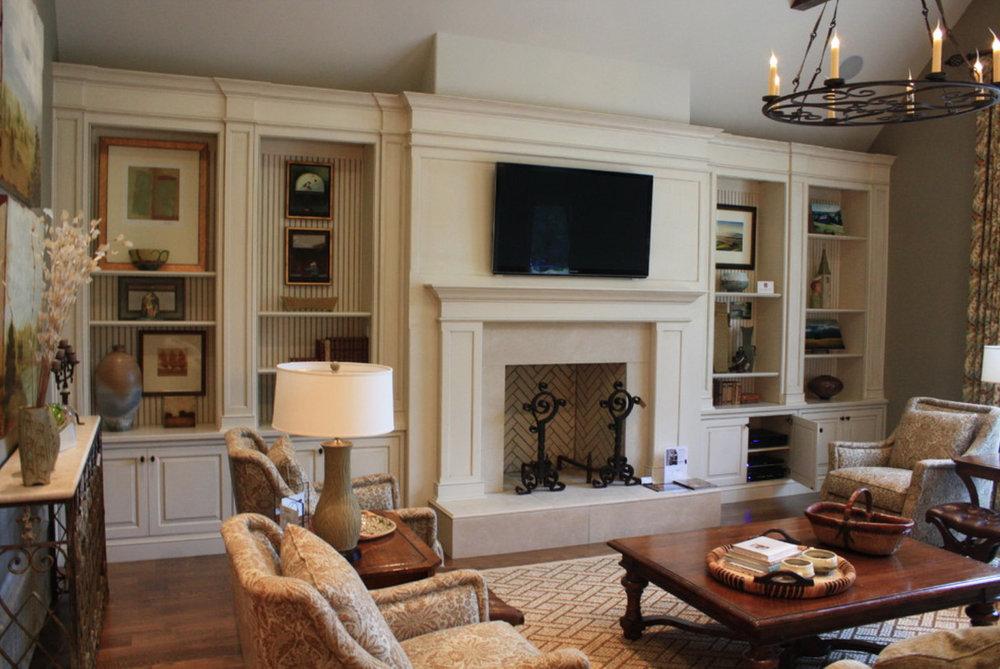 Living Room Custom Cabinetry — Amish Prestige
