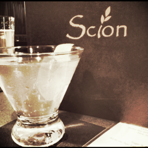 Although my guy didn't know it...we were on a crawl, the search for more of my new coveted spirit continued at Scion.  Cleverly located in my building in Downtown Silver Spring, this little gem of a restaurant boasted a pretty appropriately titled libation to add to my list of new faves!