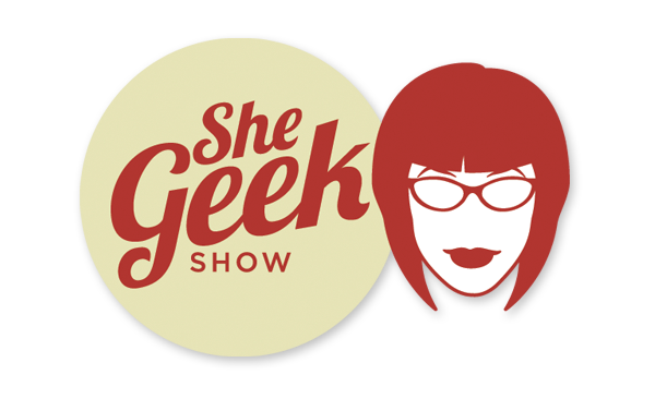 Logo for SheGeek Show, a video cast about video games and other tech stuff.
