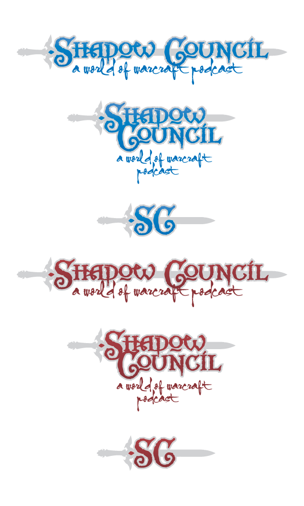 Logo set for the podcast, the Shadow Council.