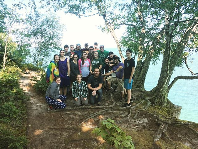 We conquered the wilderness! Now for a bite to eat, and then headed home. #picturedrocks #intents2017