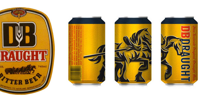 before amp after db draught � the dieline packaging