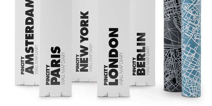Pin City Pin World Wall Map Diary The Dieline Packaging