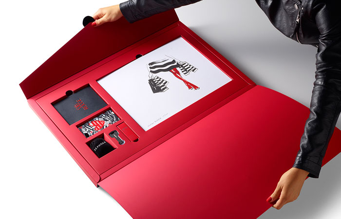 Sephora press kit vib rouge the dieline packaging branding design innovation news Interior design welcome packet