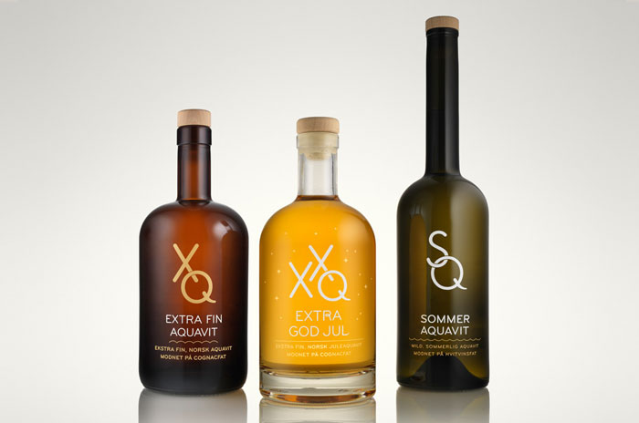 Packaging design inspiration #11 - XQ Aquavit by Permafrost design
