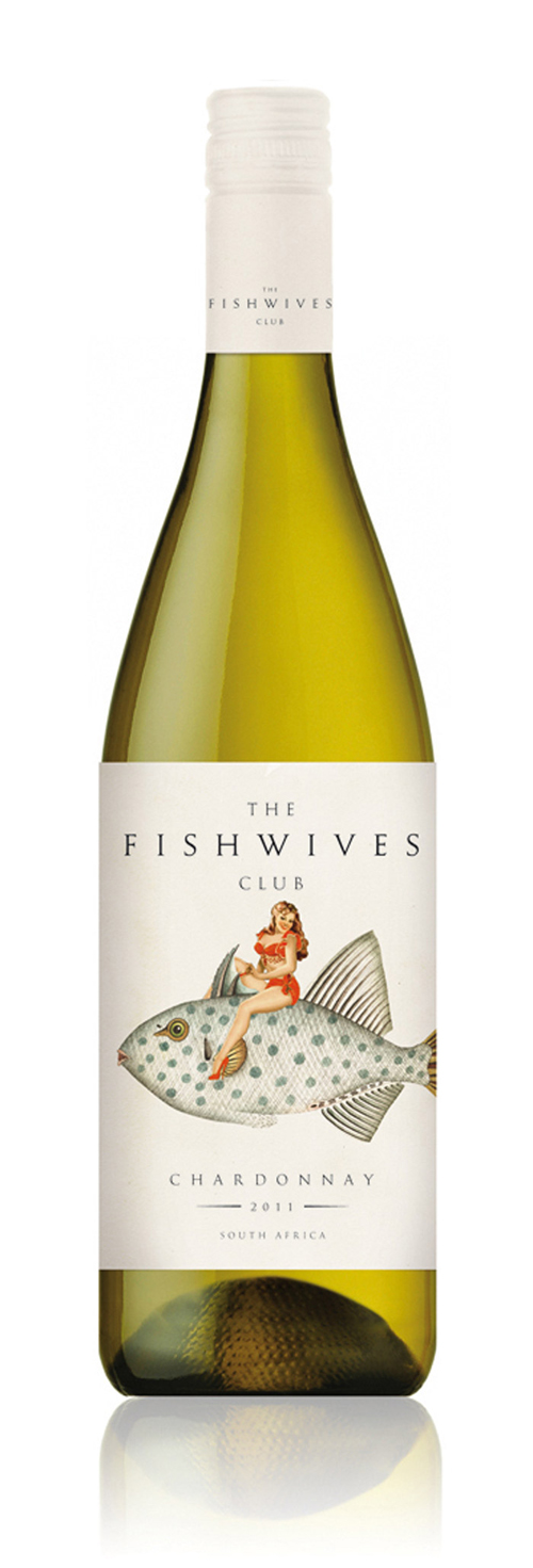 Fishwives club wine range the dieline packaging for Fish wine bottle