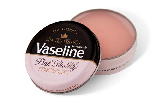 The dos and donts of holiday food packaging design vaseline sold their lip therapy balm in a special limited edition pink bubbly container with the tagline petroleum jelly with a hint of decadence negle Images