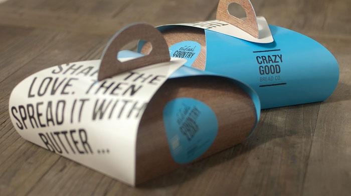 Packaging design inspiration #9 - Crazy Good Bread by Studiofluid