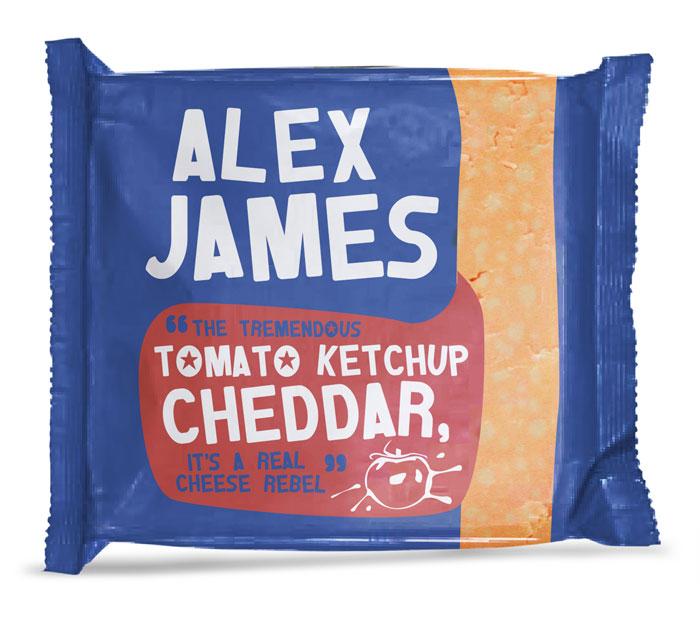 Alex James Cheese Packaging Design Dzinemafia Ketchup